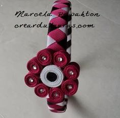 diadema trenzado con tres colores