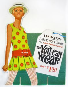 Mod Fashion, Fashion Models, Vintage Fashion, Paper Dolls Book, Vintage Paper Dolls, Twiggy, Up Hairstyles, Haircuts, 1960s Aesthetic