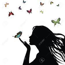 Resultado de imagen para dibujo de mujer con mariposa
