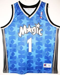 Champion NBA Basketball Orlando Magic  1 Tracy McGrady Trikot Jersey Size  48 - Größe d2e44616e