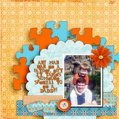 jigsaw scrapbook layout always wanted that punch. Or maybe I could just paint old puzzle pieces..hmmmm