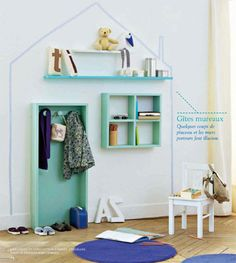 Bringing it all together in a kid's room using with a house painted wall