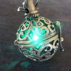 Steampunk FIRE necklace – pendant charm locket jewelry: $29.99 - Locket creates fire glow fabrication so cool you will instantly fall in love with. Glow blinks slowly kind of like a firefly! It comes and goes very pleasantly.