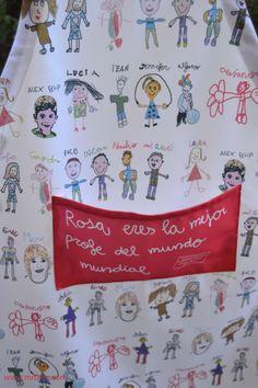 Broc Delantales personalizados con dibujos a todo color. Un regalo original para el profe. www.mrbroc.com