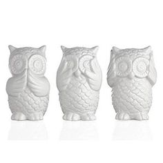 3 wise owls | Z Gallerie $19.95 I believe I officially have an obsession with owl decor now.