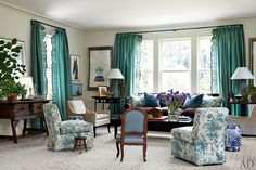 Miles Redd punches up a young family's home with snappy colors and quirky antiques