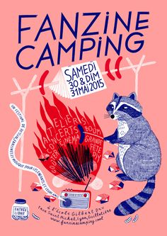 Fanzine camping le 30 et 31 mai 2015 à la guillotière 7 rue Gilbert Dru 6900 Art And Illustration, Illustration Design Graphique, Art Graphique, Illustrations And Posters, Graphic Design Posters, Graphic Design Inspiration, Typography Design, Posters Conception Graphique, Design Art