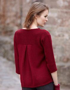 Heft Damen Basics 11 Herbst / Winter | 18: Damen Pullover | Dunkelweinrot