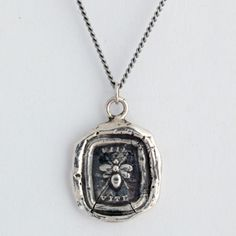 Vita Wax Seal Necklace: This handcrafted wax seal necklace features a bee: a symbol of life and creativity. This studio in Vancouver makes talismans with all different meanings! So great. I like the anchor one too.