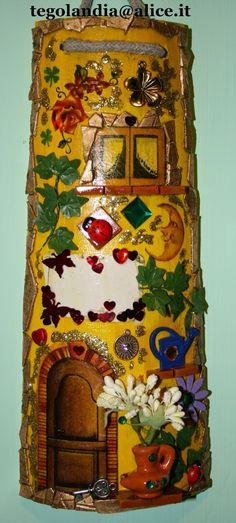 Tegolandia...: Tegola di legno con decorazione decoupage e 3D...l...