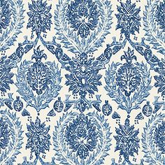 HALEEMA, Blue and White, F87932, Collection Cypress from Thibaut