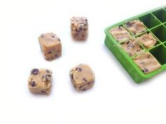 Frozen cookie dough cubes are great to have ready for an impromptu treat.