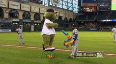 Delino DeShields Jr. does not want any part of Orbit's Cinco de Mayo party
