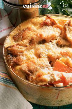 Avec seulement 4 ingrédients vous pouvez cuisiner ce gratin de patates douces au reblochon. #recette#cuisine#gratin#patatesdouces #fromage #reblochon Apple Pie, Desserts, Food, Kitchen, Cooking Food, Cooking Recipes, Sweet Potato, Tailgate Desserts, Deserts