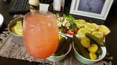 Healthy home made dinner  with passionate fruit virgin drink .Honey and mustard salad. French loaf .