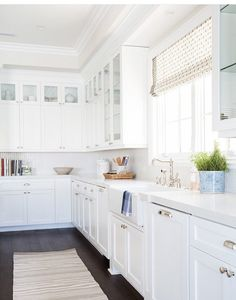 Studio McGee is consistently a top notch resource for thirst-quenching interior decor inspirat. Kitchen Cabinets Decor, Cabinet Decor, Kitchen Cabinet Design, Kitchen Countertops, Marble Countertops, Cabinet Colors, Kitchen Designs, Kitchen Hardware, Kitchen Ideas