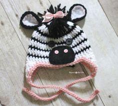 Repeat Crafter Me: Crochet Zebra Hat Pattern
