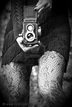 Woman Holding Medium Format Camera, Black-white Retro Style Royalty Free Stock Photo, Pictures, Images And Stock Photography. Girls With Cameras, Old Cameras, Susan Sontag, Nina Hagen, Love Photos, How To Take Photos, Medium Format Camera, Photoshop, Monochrom