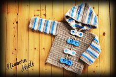CROCHET PATTERN for Baby Boy or Girl Striped by NewbornKnots