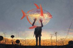 Moonfish Published in Tales from the Inner City in Limited Edition Giclee Print with archival inks on medium weight archival fine art paper by Shaun Tan. Print Size: x x Signed and numbered edition of See Shaun Tan's available art and biography. Shaun Tan, Abstract Painters, Abstract Art, Buy Art Online, Fish Art, Native American Art, Hanging Art, Art Auction, Limited Edition Prints