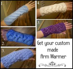 Get your custom made Arm Warmer. 4 to choose from.