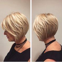 Beautiful textured bob on our lovely Sandra! Hair by @jessicalakishair  #bob #boblife #headlinessalonspa #greatday #texturedbob #hair #haircut #aveda #avedasalon #yeg #edmonton #yeghair #yegstylist