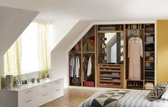 Sharps is the UK's leading fitted bedroom furniture & fitted wardrobes specialists. Designed to maximise every inch of space and bring beautiful organisation to your home. Fitted Bedroom Furniture, Fitted Bedrooms, Beautiful Bedroom Designs, Beautiful Bedrooms, Wardrobe Design, Built In Wardrobe, Vaulted Ceiling Bedroom, Fitted Wardrobes, Storage Design