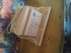 """Cute way to wrap a """"moving away gift""""!"""
