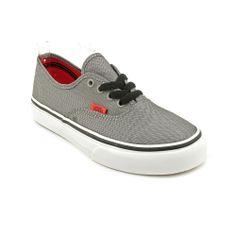Vans Authentic Jugend-Jungen Grau Textile Turnschuhe Schuhe EU 30,5