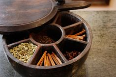 Indian Spice Box. Antique Spice Box. by theenchantedfigtree, $225.00