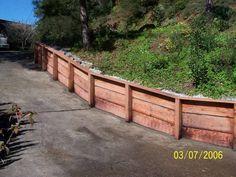 A-1 Construction (415)516-8252 Wood Retaining Walls, retaining wall replacement, retaining wall repair