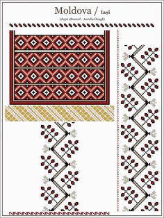 Crewel embroidery employs this interesting Jacobean design, where we use a long & short soft shading in four colors to introduce the gradient into the embroidery texture. Blackwork Embroidery, Folk Embroidery, Learn Embroidery, Embroidery Patterns, Cross Stitch Designs, Cross Stitch Patterns, Simple Cross Stitch, Moldova, Folklore