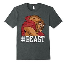 Mens Disney Beauty  The Beast BEAST Game Face Graphic TShirt XL Dark Heather *** You can find more details by visiting the image link-affiliate link.