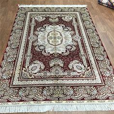 Camel Carpet Royal Red Hand Knotted Room Size Silk on Silk Area Rugs 5'x7.5' http://www.amazon.com/dp/B01DP9U9JY/ref=cm_sw_r_pi_dp_NNbixb0AYBHPT