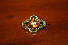 Antique Pinchbeck Brooch with Gold Paste for Doll c.1860 (#13) #unitedsellers