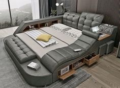 Yanko Design, Design Jobs, Smart Bed, Futuristic Furniture, Futuristic Bedroom, One Bed, Power Recliners, Bonded Leather, Massage Chair