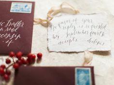 garnet envelopes | Photography: Kate Weinstein Photo - www.kateweinsteinphoto.com