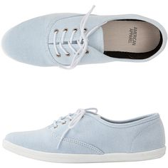 Unisex Denim Tennis Shoe ($32) ❤ liked on Polyvore featuring shoes, sneakers, zapatos, flats, white trainers, rubber sole shoes, white tennis shoes, unisex shoes and denim flat shoes