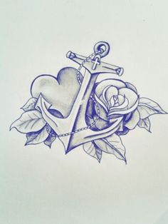 Beautiful anchor tattoo design… I love the heart – foot tattoos for women Tattoo Drawings, Body Art Tattoos, Small Tattoos, Sleeve Tattoos, Tatoos, Anker Tattoo Design, Anker Tattoo Frau, Navy Tattoos, Catrina Tattoo