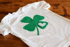 t-shirt camiseta diy St. Patrick's Day green verde trébol shamrock party fiesta miraquechulo
