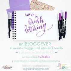 La Gata Con Botas: Taller de Brush Lettering en Bloggever_, Oviedo