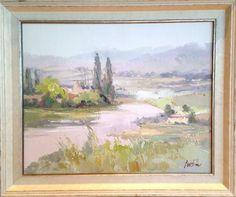 LEILIN Untitled (landscape 0003) $700.00 original, oil on canvas 25″ x 21″, framed