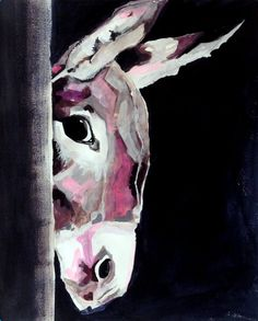 original gouache and acrylic by jamiegriffinthompson donkeys gouache tags painting