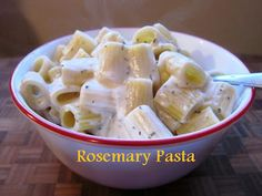 Easy Rosemary Pasta Recipe - In 15 Minutes! (Good with chicken, too.)