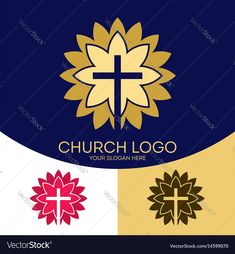 Church logo and christian symbols Royalty Free Vector Image , Boat Vector, Fish Vector, Christian Symbols, Christian Art, Slogan, Biblical Symbols, Free Vector Images, Vector Free, Angel Vector