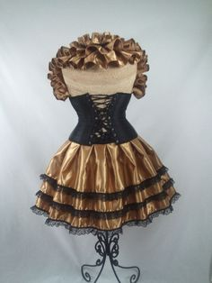 Antique Gold and Black Bustle Only by DelightfullyDeviant on Etsy, $35.00