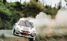 Colin McRae, flat out in New Zealand 2001