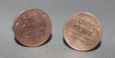 Wheat Penny One Cent Cufflinks by LinksOffTheCuff on Etsy