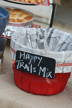 this would be great for a graduation or retirement party. Happy Trails mix