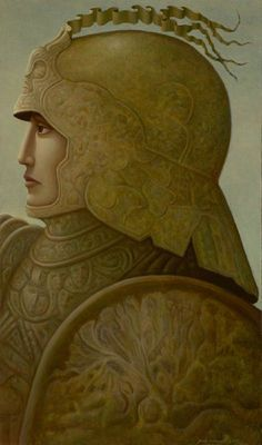 WARRIOR 9 BY GEORGE UNDERWOOD Modern Gothic, Fantastic Art, Illustrations And Posters, Surreal Art, Figure Painting, Contemporary Artists, Illustrators, Fantasy, Statue